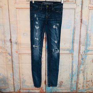 American Eagle Super Stretch Jeans 0 long
